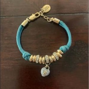 Juicy Couture Teal and Gold Heart Bracelet
